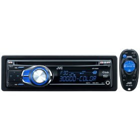 JVC KD-R300 30K Color-Illumination Single-DIN CD Receiver with Remote Control and J-Bus Expandability