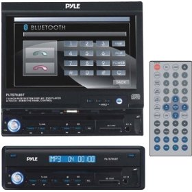 PYLE PLTS78UBT 7-Inch Motorized Touch Screen TFT/LCD Monitor With DVD/CD/MP3/AM/FM/Bluetooth