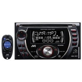JVC KW-XG500 Double DIN In-Dash CD Receiver with Front AUX Input J-Bus Expandable (Black)