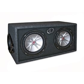 Kicker CompVR 07DCVR104 4-Ohm 2 Subwoofers In Vent Box