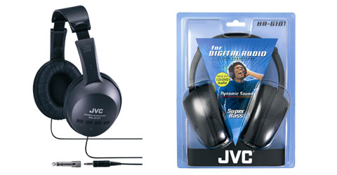 Jvc hag101 headphone over ear xb 40mm