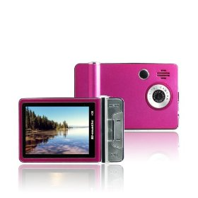 Ematic 2.4 Inches Color MP3 Video Player with Built-in 5MP Digital Camera and Video Recording, FM Radio, TV Out, Speaker 4 GB PINK