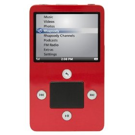 Haier ibiza Rhapsody 8 GB Video MP3 Player with Wi-Fi (Red)