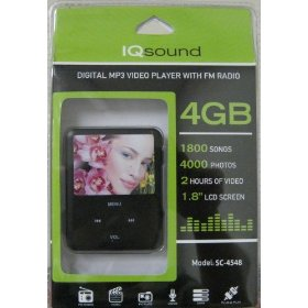 Supersonic IQ Sound Digital MP3 Video Player with FM Radio Model SC-4548 Black