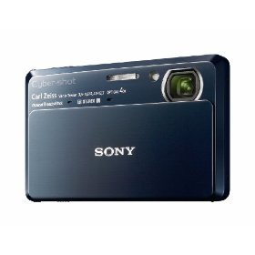 Sony DSC-TX7 10.2MP CMOS Digital Camera with 4x Zoom with Optical Steady Shot Image Stabilization and 3.5 inch Touch Screen LCD (Blue)