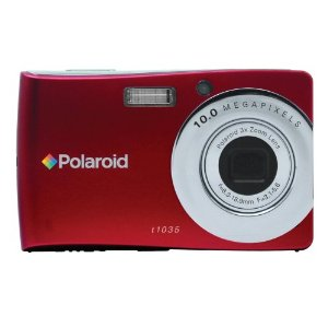 Polaroid 10.0MP Compact Digital Camera with Touch Screen LCD Display - Red (CTA-01035S)