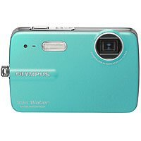 Olympus Stylus 550WP - Digital camera - compact - 10.0 Mpix - optical zoom: 3 x - supported memory: xD, microSD - teal
