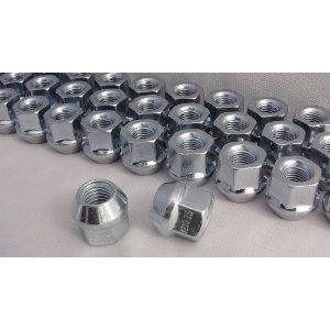 Open End Bulge Acorn Lug Nuts 3/4 inch Head, 60° Set of 20 Lugs For Most Ford Truck Models