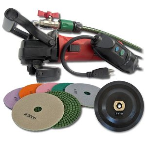 SECCO WV5GRIN 5-Inch Wet Polisher Kit