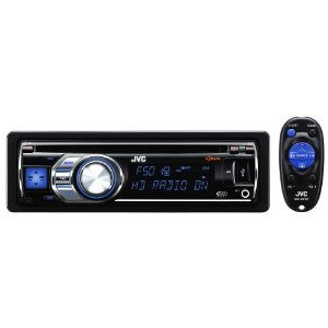 JVC KD-HDR50 30K Color-Illumination Single-DIN HD Radio CD Receiver with Remote Control USB 2.0 for iPod/iPhone