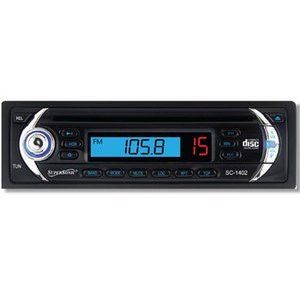 SuperSonic SC-1402 Car Audio with CD, AM/FM Radio with Manual Tuning and Detachable Panel