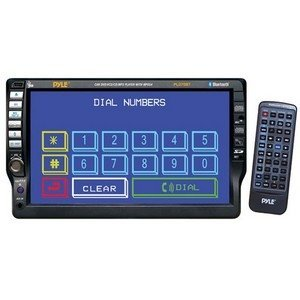 PYLE PLD70BT 7-Inch TFT Touch Screen DVD/VCD/CD/MP3/CD-R/USB/AM/FM/RDS Receiver and Bluetooth System