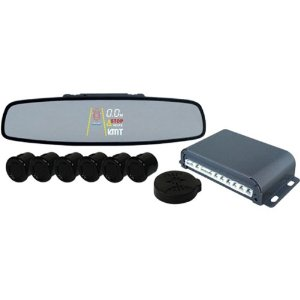 PYLE PLPSE6 Front and Rear 6 Sensor Rearview Mirror Parking System