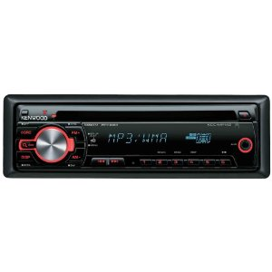 Kenwood KDC-MP142 WMA/MP3 CD Receiver with Front Panel AUX Input and Remote Control