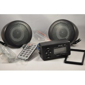 Motorcycle MP3 FM radio system W/ 3 inch speakers sd