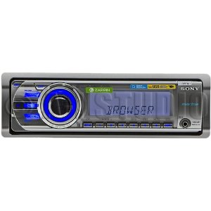 Sony CDXM60UI Marine CD Receiver MP3/WMA/AAC Player with USB Wire for iPod and USB Devices (White/Silver)