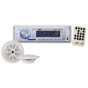 Pyle PLMRKT32WT In-Dash Marine AM/FM PLL Tuning Radio with USB/SD/MMC Reader