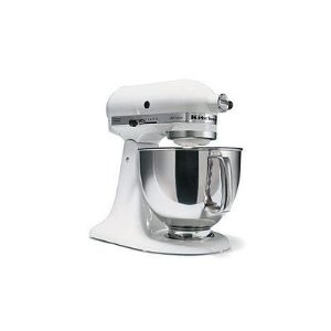 KitchenAid KSM150WH FACTORY REFURBISHED mixer 5QT, white.