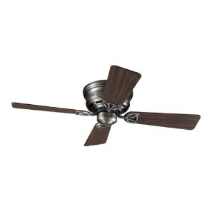 Hunter 23871 Low Profile III 42-Inch Antique-Pewter Ceiling Fan with 4 Walnut/Chestnut Blades