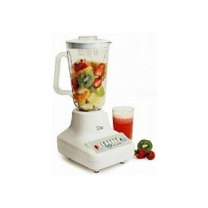 Maxi-Matic EBL-1000 Elite Cuisine 450-Watt 10-Speed Blender with 48-Ounce Clear Plastic Jar, White