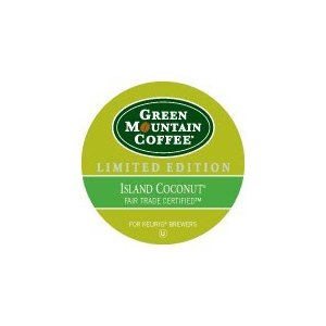 Green Mountain Fair Island Coconut K Cups One Box=24 Individual Serving K Cups