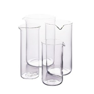 BonJour 3 Cup French Press Replacement Glass Carafe, Universal Design