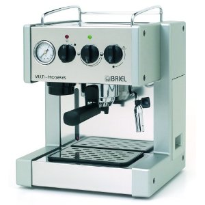 Briel ES200APG-TB Multi-Pro One Group Thermo Block Espresso Machine with Auto Espresso Flow, Steel/Silver