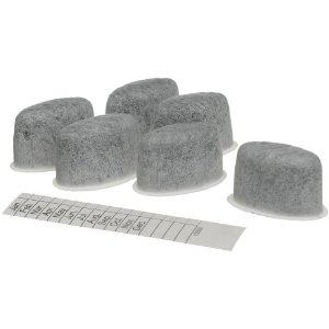 Capresso 4460 Charcoal Water Filters for Capresso ST600 Coffeemaker, 6 Pack