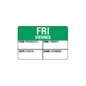 Daydots Dissolvable Date/Time Friday Label 1'' x 1.5''