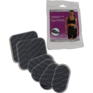 Slendertone Replacement Gel Pads for Flex Bottom and Thigh Shorts (6 Pads)