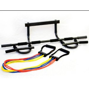 Yes4All XP Chin Up Bar and Kit of 4 Extremely Safe Resistance Bands with 80 FREE Exercises