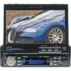 Boss BV9995B 7-Inch In-Dash Motorized Widescreen Touchscreen TFT Monitor/DVD/MP3/CD Combo Receiver with Built-in Bluetooth