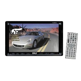 Pyle PLDN70U 7-Inch Double-DIN Motorized TFT Touchscreen Receiver with DVD/VCD/CD/MP3/MP4/CD-R/USB/SD-MMC Card Slot/AM/FM