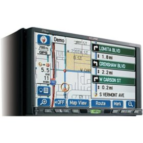 Eclipse AVN6620 DVD Navigation System with 7-Inch Wide TFT Display and Dual DVD Multi-Source Receiver