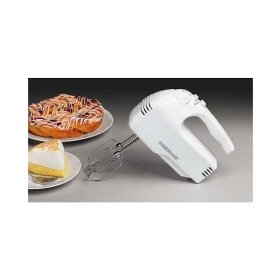 Farberware fshm100 white hand mixer 10speed turbo 215w