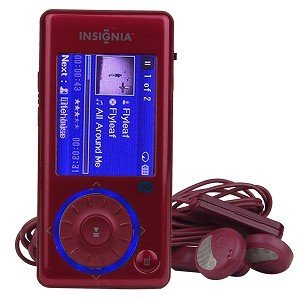 Insignia Sport with Bluetooth NS-4V17R - Digital player / radio - flash 4 GB - WMA, Ogg, MP3, WMAPro, protected WMA (DRM 10) - video playback - display: 1.7