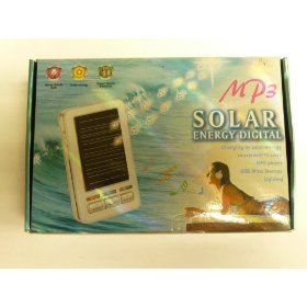 Solar Mp3 Player of storage 256MB with Flash Light