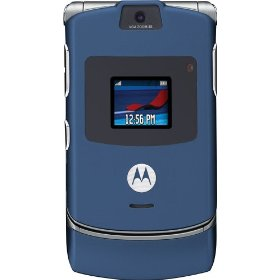Motorola RAZR V3 Unlocked Phone with Camera, and Video Player--U.S. Version with Warranty (Blue)