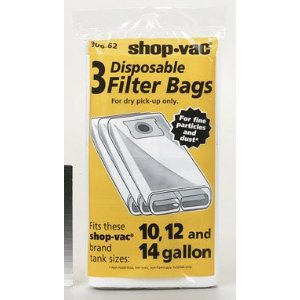 Shop-Vac 9066200 10-14 Gallon  Disposable Collection Filter Bag, 3-Pack