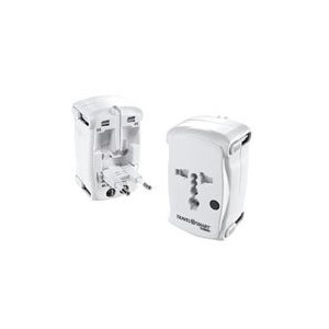 Conair All-in-One Adapter Plug - White
