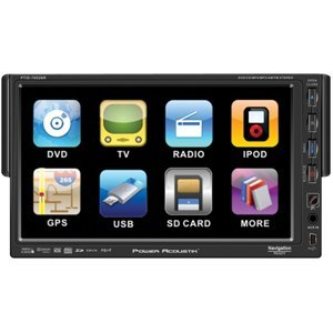 Power Acoustik PTID-7002NR Detachable 7-Inch AM/FM Receiver Oversized Single Din