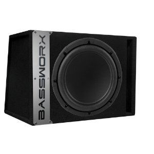 Bassworx CP10B Single 10-Inch Ported Subwoofer Enclosure (Black)