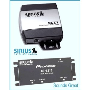 Complete Sirius Radio System for Satellite Ready PIONEER Receivers CD-SB10 + SCC1
