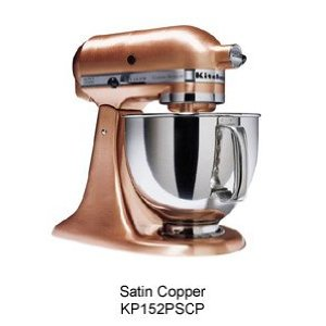 KitchenAid KSM152PSCP Custom Metallic Series Mixer - - SATIN COPPER with Pouring Shield