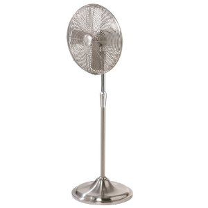 Hunter 90121 Century 17-Inch Oscillating Pedestal Fan, Brushed Nickel