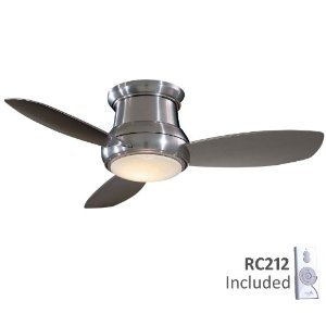 Minka Aire F518-BN Contemporary / Modern Nickel Ceiling Fan Light Included