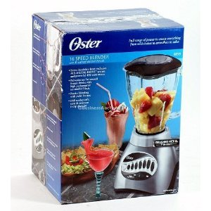 Oster 6859 16-Speed Blender, Brushed Nickel