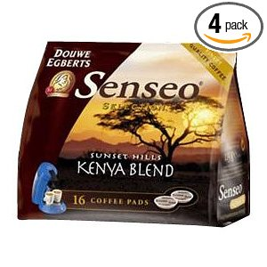 Senseo Kenya Blend Coffee, 16-Count Pods (Pack of 4)