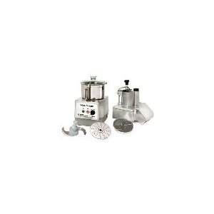 Commercial Food Processor, 5.5 qt., 2 Speed, Cont. Feed/Bowl Attach., 5 HP