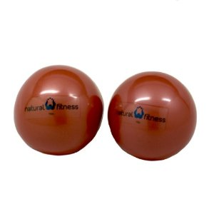 Natural Fitness Pair Soft Weighted Balls Pair, 4-Pounds Each (Red Rock)
